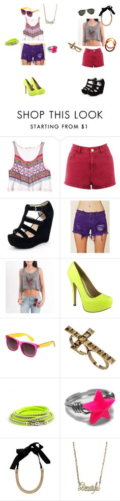 """""""summer look's!"""" by kirstinroadottir ❤ liked on Polyvore featuring Warehouse, MICHAEL Michael Kors, Free People, Nollie, ALDO, Ray-Ban, Wet Seal, Miss Selfridge and Lanvin"""