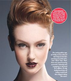 """1930 hair style modernized from """"Timeless Hair"""" article Rougemag.com"""