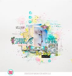 In love this this layout!  By Maska using Avery Elle stamps.