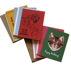 Boutique handcrafted cards by La Familia Green.  We like 'em.