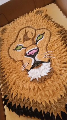 Lion cake for Leo's by Curshanacakes