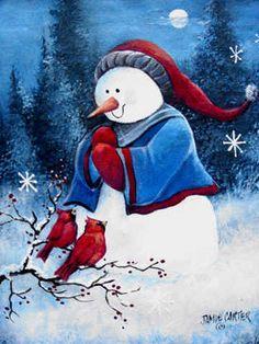 Hello Winter Friends by Jamie Carter. A licensed design.