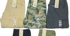 ad61baeb Levis Mens Cargo Pants Relaxed Fit MANY SIZES & COLORS Camo Khaki Black  New!!