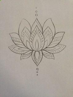 55 Best Lotus Flower Drawings Images In 2017 Tattoo Ideas Female