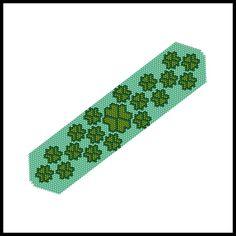 A Field of Four-Leaf Clovers Bracelet | Bead-Patterns