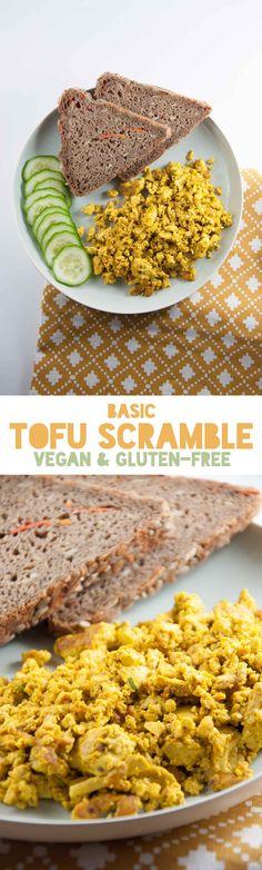 Basic Tofu Scramble - vegan & gluten-free ElephantasticVegan.com