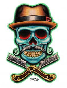 tattoo-art-barber-skull-tattoo-art.jpg (459×600)