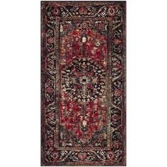 Safavieh Vintage Hamadan Mahal Red Indoor Lodge Throw Rug (Common: 2 X 4; Actual: 2.2-Ft W X 4-Ft L) Vth215a-24 #ThrowRugs