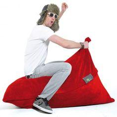 #Sitzsack von FatSak - FlipSak: Cord-Velours Rot