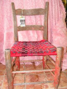 antique upcycled 1800sYouth Chair woven seat by RusticStarAntiques570 x 760150.2KBwww.etsy.com   upcycled woven chair with neck ties