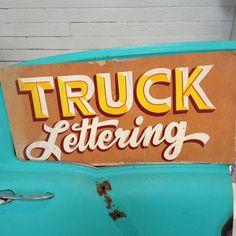 Truck Lettering by #mikemeyer #mazeppa #brushlettering