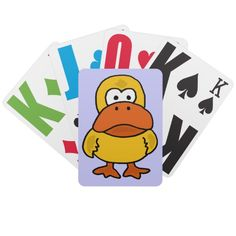 Angry Duck Playing Cards #ducks #funny #playingcards #art #angry #zazzle #petspower