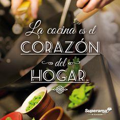 #FrasesGourmet La cocina es el corazón del hogar.