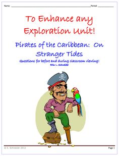 """FREE SOCIAL STUDIES LESSON - """"Pirates of the Caribbean: On Stranger Tides (Movie Qs for before and during)"""" - Go to The Best of Teacher Entrepreneurs for this and hundreds of free lessons.  http://thebestofteacherentrepreneurs.blogspot.com/2012/10/free-social-studies-lesson-pirates-of.html"""
