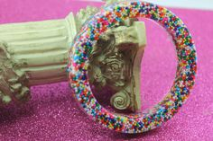 Yum Yummy Real Sprinkle Candy Resin Bangle by tranquilityy on Etsy, $11.99
