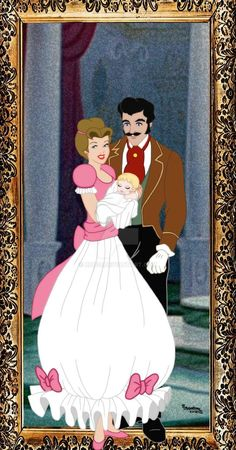 Cinderella as a baby and her mother and father Arte Disney, Disney Fan Art, Disney Love, Disney And Dreamworks, Disney Pixar, Baby Cartoon Characters, Disney Princess Cinderella, Cinderella Cartoon, Cinderella Drawing