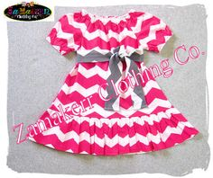 Girl Pink Chevron Ruffle Dress - Custom Boutique Girl Peasant Ruffle Dress - Sash Tie 3 6 9 12 18 24 month size 2T 2 3T 3 4T 4 5T 5 6 7 8 on Etsy, $46.52 CAD