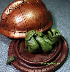 Turtle Shell Box with Nekked Turtle by MandarinMoon, via Flickr