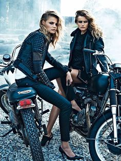 ★ Rock 'n' Roll Style ★ Edita Vilkeviciute & Magdalena Frackowiak by Lachlan Bailey for W Magazine 2013