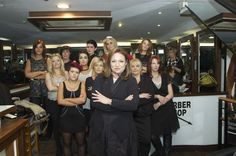 Presenter Norah Casey and the staff of Ultimate Hair & Beauty, Dublin City Centre.