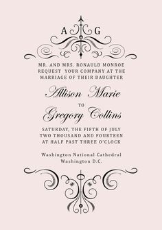 High Society Invitations in Pink
