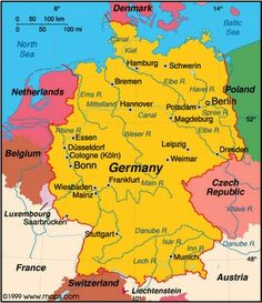 Map of the rivers of Germany, Passport Germany unit study! #unitstudies Visit Germany, Bonn Germany, Berlin Germany, Germany Travel, Dusseldorf Germany, Travel Maps, Frankfurt, Bavaria, Comprehension, Cologne Germany, Zurich, The Netherlands, World Countries