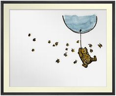Classic WinniethePooh Print Poster Baby print by CloudsandWaters