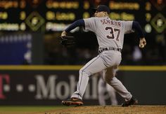 Image detail for -Detroit Tigers starting pitcher Max Scherzer throws in the fourth inning of a baseball game against the Seattle Mariners, Wednesday, April 17, 2013, in...