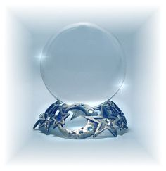 Crystal Cove Crystal Ball with Moon and Star Glass Stand.Love the stand very pretty!