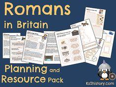 Primary History, Teaching History, Teaching Resources, Romans For Kids, Romans Ks2, Performance Poetry, Roman Britain, Roman History, Unit Plan