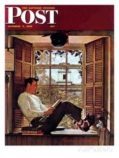 """Willie Gillis in College"" Saturday Evening Post Cover, October 5,1946 Giclée-Druck von Norman Rockwell bei AllPosters.de"