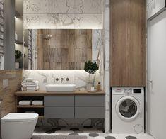 45 Hanging Bathroom Storage Ideas for Maximizing Your Bathroom Space - The Trending House Washroom Design, Bathroom Design Luxury, Modern Bathroom Decor, Bathroom Design Small, Bad Inspiration, Bathroom Inspiration, Best Bathroom Designs, Laundry In Bathroom, Tiled Bathrooms
