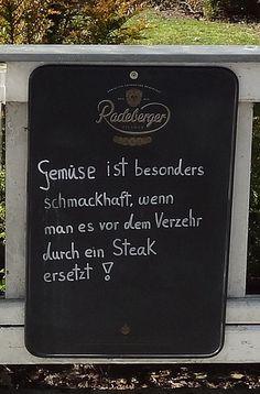 Steak statt Gemüse