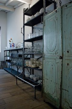 industrial shelving for the home..  i did in my son's room..but the trick is..add to it..and make sure..it doesn't stick out..too industrial/whse..paint..or buy matte finish/high shine steel..