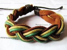 Soft Black Soft Leather and Hemp Ropes Woven Cuff by accessory365, $2.50