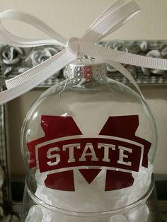 Mississippi State Christmas Ornament by JennDesignz on Etsy