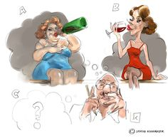 Wer kommt zum Weinfest? Illustration, Artwork, Fictional Characters, Wine Festival, Work Of Art, Auguste Rodin Artwork, Artworks, Illustrations, Fantasy Characters