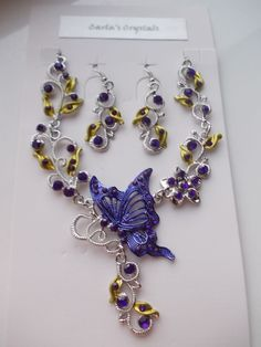 SALE...Purple Jewellery Set