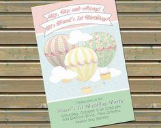 Hot Air Balloon Invitation by TwinspiringDesign