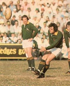 '76 - First test - The McLook rugby collection South Africa kicked off and within a couple of minutes Gerald Bosch was having an attempt at goal –which failed- from near the halfway line.