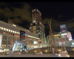 札幌駅JRタワーの夜景壁紙写真 11(1280×1024)