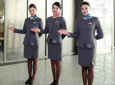 【China】 Okay Airways cabin crew / 奥凱航空 客室乗務員 【中国】 Flight Attendant, Style, Fashion, Swag, Moda, Fashion Styles, Fashion Illustrations, Outfits