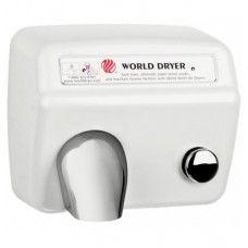 DA57-974 WORLD DRYER MODEL A nyomógombos, időzített kézszárító, acél, fehér, 2300W, 20 mp, 73,8 dB