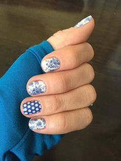 Jamberry Fine China and Blue & White Polka