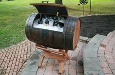 A client gave my fiance a barrel the other day, not sure what to do with it, maybe we'll turn it into a cooler, pretty cool :)