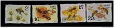 SET 4 MINT STAMPS - BEES / INSECTS - 1993 - CHINA - **/MNH - Delcampe.net