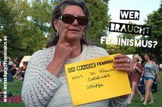 """""""Ich brauche #Feminismus, weil ich Frauen-Solidarität schätze"""" (Sonja)"""