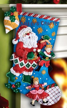 "18"" Felt Christmas Stocking - -"