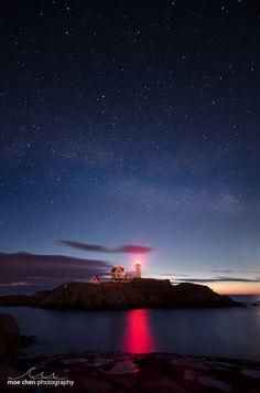 ✮ Nubble Lighthouse in Cape Neddick, Maine~~US43.165204,-70.591095