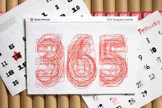 studio hinrichs 365 typography calendar.